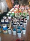 Stofffarben-Wanderbox